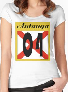 ALABAMA:  04 AUTAUGA COUNTY Women's Fitted Scoop T-Shirt