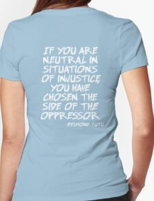 Oppression  Womens Fitted T-Shirt