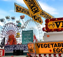 Ferris Wheels & Fried Dough - Fryeburg Fair by T.J. Martin