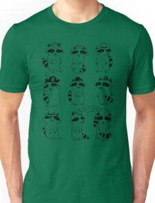 Raccoon Hat Party Unisex T-Shirt
