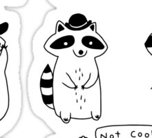 Raccoon Hat Party Sticker