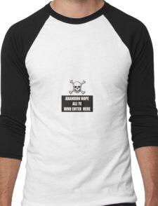 Abandon Hope Men's Baseball ¾ T-Shirt