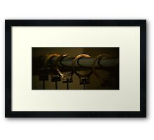 Cheap Motel Hangers Framed Print