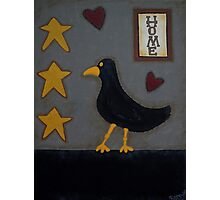 Primitive Blackbird Photographic Print