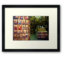Shop with icons Framed Print
