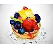 Delicious...Delectable Fruit Tart Photographic Print