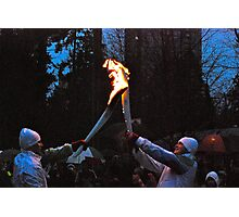 Passing the Flame! Photographic Print