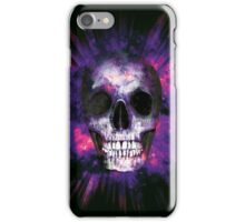 Purple Skull Explosion  iPhone Case/Skin