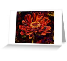 The Red Flower Greeting Card