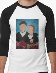 Gay Wedding Artwork Men's Baseball ¾ T-Shirt