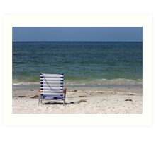 Gulf Coast chair Art Print