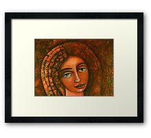 Flora, Goddess of the Seeds closer  Framed Print