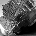 Havana Street scene, black & white by buttonpresser
