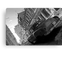 Havana Street scene, black & white Canvas Print
