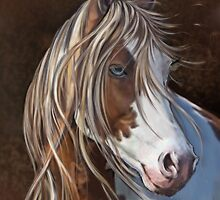 Horse Print - The Wild One by Concetta Kilmer