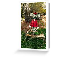 Photo Mouse Sculpture Greeting Card