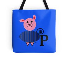 P is for Pig Tote Bag