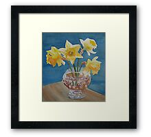 Daffodils and Marbles Framed Print