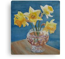 Daffodils and Marbles Canvas Print