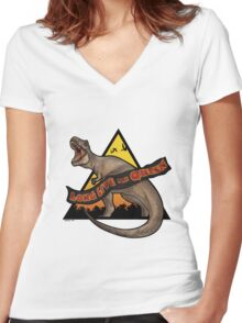 Jurassic Park - Long Live the Queen Women's Fitted V-Neck T-Shirt