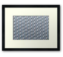Seamless Squares And Blocks Background Framed Print