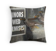 Minors not Miners Throw Pillow