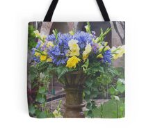 Flowers in the Fountain Tote Bag
