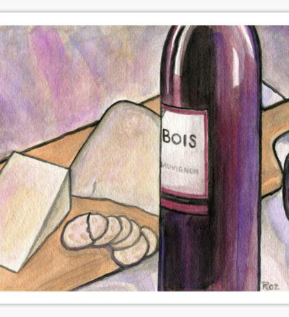 Wine and Cheese Tonight Sticker