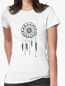 Zen Doodle Dreamcatcher Womens Fitted T-Shirt
