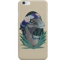 Clever Girl - Blue iPhone Case/Skin
