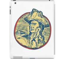 American Patriot Side Circle Etching iPad Case/Skin