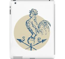 Rooster Cockerel Crowing Weather Vane Etching iPad Case/Skin