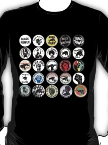 Black Panther Party / BLACK POWER Vintage Buttons  T-Shirt