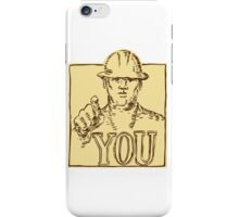 Construction Worker Pointing You Etching iPhone Case/Skin