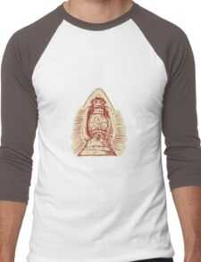 Kerosene Lamp Etching Men's Baseball ¾ T-Shirt