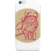 Santa Claus Needs You Pointing Etching iPhone Case/Skin