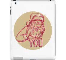 Santa Claus Needs You Pointing Etching iPad Case/Skin