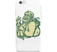 Santa Claus Pointing Side Etching iPhone Case/Skin
