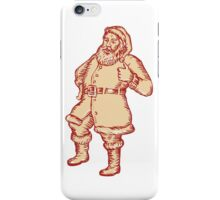 Santa Claus Father Christmas Thumbs Up Etching iPhone Case/Skin