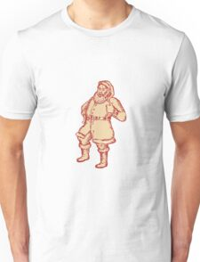 Santa Claus Father Christmas Thumbs Up Etching Unisex T-Shirt