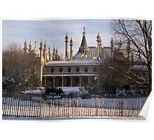 Royal Pavillion In Snow Poster