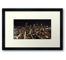 Seattle: Retail Core Framed Print