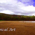 Tropical Art Banner by Dennis Begnoche Jr.