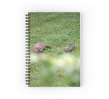 The lovely Charlize and baby Charlie Spiral Notebook