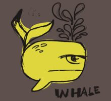 Whale and Sabet collaboration t-shirt by ayafilm