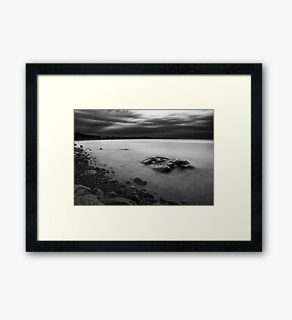 Monochrome Waters Framed Print