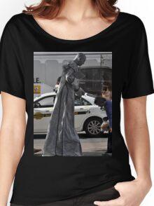 Grey Busker, Market Street, Sydney, Australia 2013 Women's Relaxed Fit T-Shirt