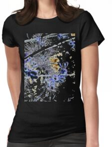 Blue and White China Trees Womens Fitted T-Shirt