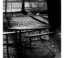 Spooky Bench Photographic Print