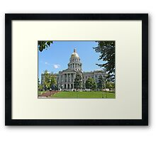 Colorado State Capitol Building, Denver Framed Print
